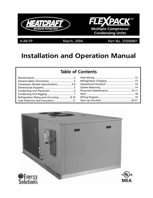 heatcraft evaporator coil wiring diagram installation and operation manual bohn  installation and operation manual bohn