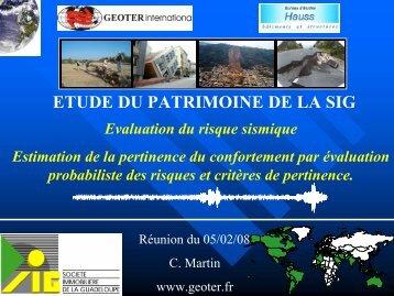 GEOTER - renforcement logements Guadeloupe