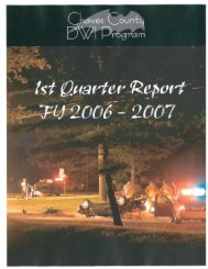 1st Quarter Report FY2006 - 2007 - Chaves County DWI Program