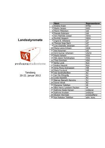 22. januar - Høgskolen i Vestfold - Pedagogstudentene