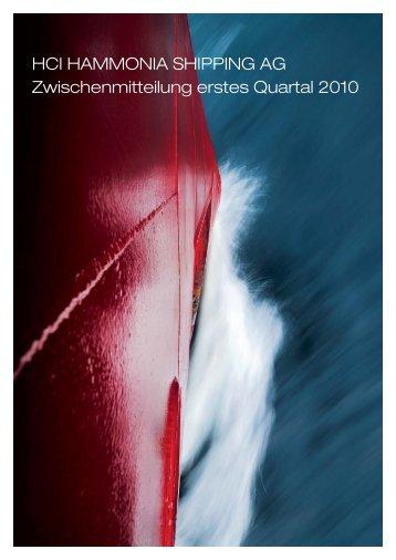 Zwischenmitteilung Q1 2010 - hci hammonia shipping ag