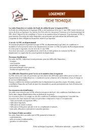 Fiche technique Logement - Familles de France
