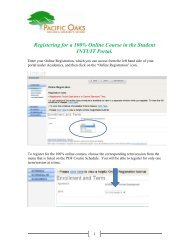 Registering for a 100% Online Course in the Student INTUIT Portal.