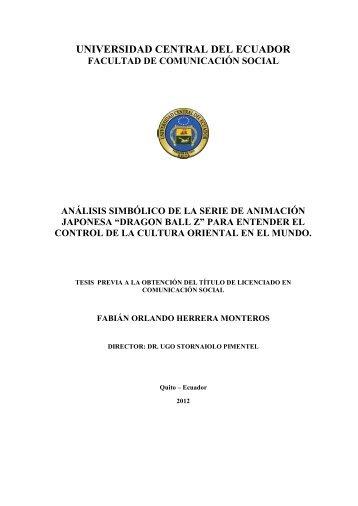 UNIVERSIDAD CENTRAL DEL ECUADOR - Repositorio Digital UCE