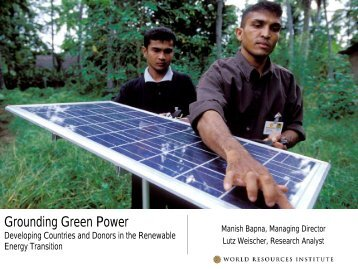Grounding Green Power Developing Countries and Donors in the ...