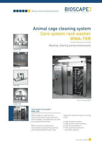 Animal cage cleaning system Care system rack washer WWA-TKR