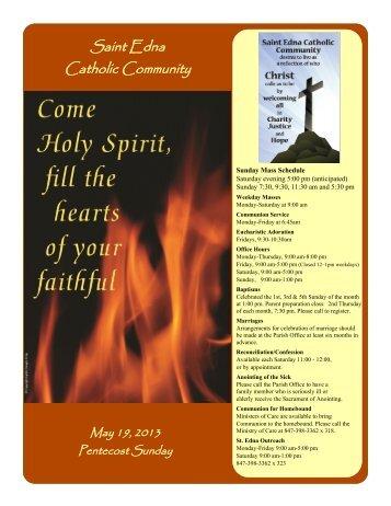 May 19 - St. Edna Catholic Church