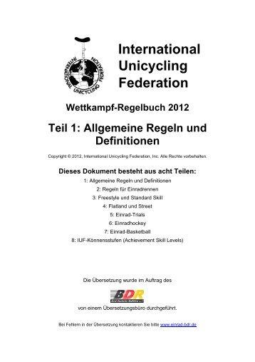 standard skill-regeln - Eurocycle 2013