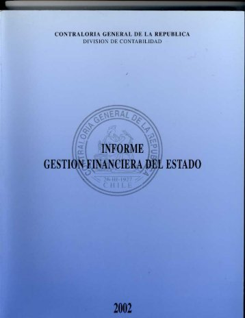 informe gestión financiera - año 2002 - Contraloría General de la ...