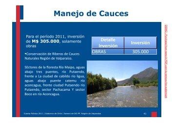 Cuenta Pública MOP Valparaíso 2011 Parte 3 (11,4 Mb. PDF)