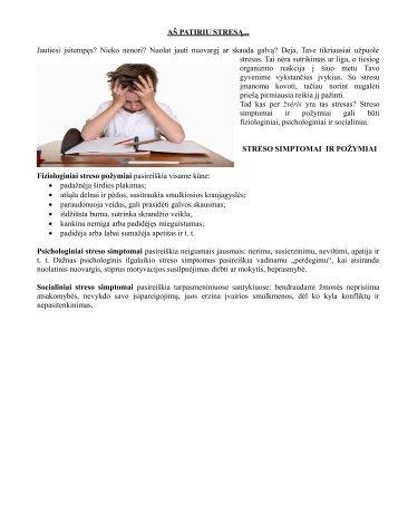 Kaip įveikti stresą - Vilniaus Gabijos gimnazija