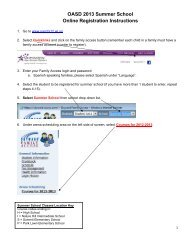 OASD 2013 Summer School Online Registration Instructions