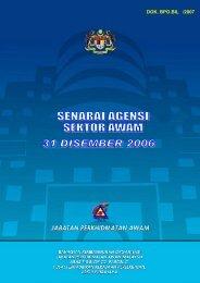 Draf Senarai Agensi Pada 31 Disember 2006-final draft 3 - Jabatan ...