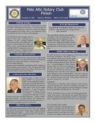 November 21, 2005 - Palo Alto Rotary