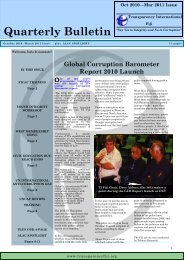 Quarterly Bulletin - Transparency International Fiji