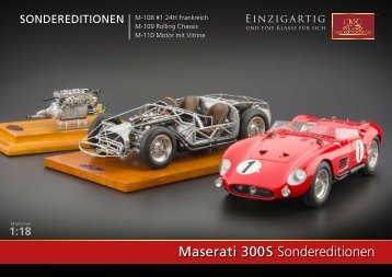 Maserati 300 S Sondereditionen - CMC