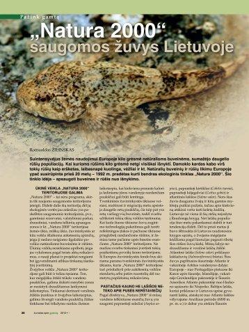 saugomos žuvys Lietuvoje - Natura2000