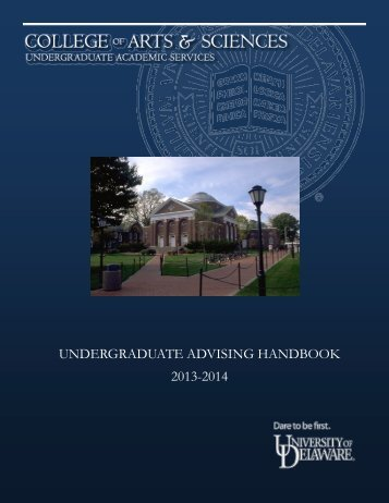 2013-2014 Undergraduate Advisement Handbook - College of Arts ...