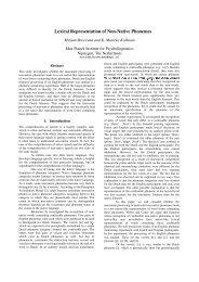 Lexical Representation of Non-Native Phonemes - Mirjam Broersma