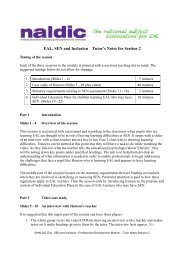 Assessment and planning for children learning EAL who ... - NALDIC