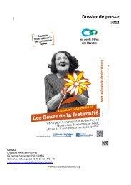 Dossier de presse Les fleurs de la fraternité 2012 - 1er octobre ...