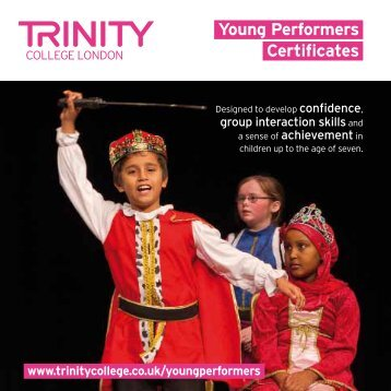 Young Performers Certificates - Trinity College London