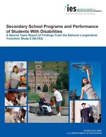 Secondary School Programs and Performance of Students ... - NLTS2