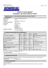 safety data sheet ronseal no rust metal paint - Toolbank