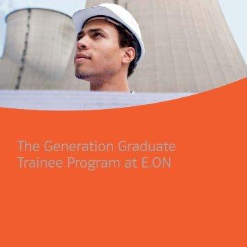 The Generation Graduate Trainee Program at E.ON - eon-einkauf.com