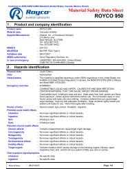 Material Safety Data Sheet ROYCO 950 - ChemCenters