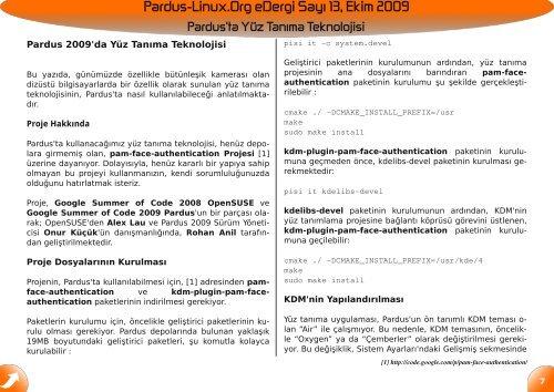 Kaliteli - Pardus-eDergi.org
