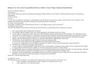 Baltimore City Code Article 14, Special Benefits District, Subtitle 6 ...