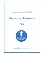 Family Disaster and Evacuation Plan - I Will Prepare