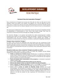 Comment faire des économies d'énergie ? - Familles de France