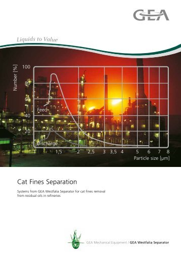 Cat Fines Separation pdf, 371.5 KB - GEA Westfalia Separator