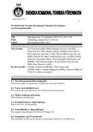 2000-09-18 - Svenska Kommunal-Tekniska Föreningen