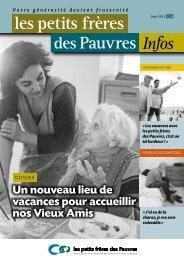 Les petits frères des Pauvres infos n°29 - juin 2013