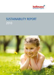 SuStainability RepoRt 2010  - Hellmann Worldwide Logistics