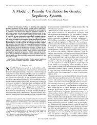 A model of periodic oscillation for genetic regulatory ... - IEEE Xplore