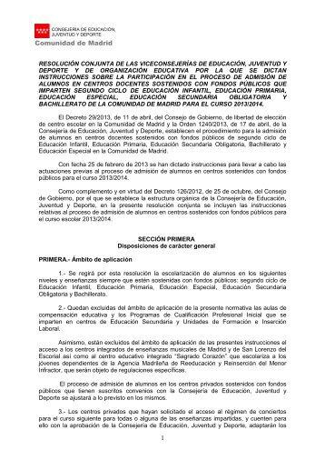 TERCERA PARTE: - Comunidad de Madrid