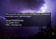 fichier PDF résultant de la conférence - Olivier DOSSMANN