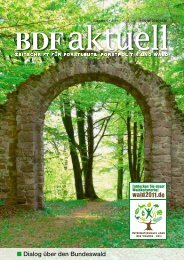 Dialog über den Bundeswald - BDF