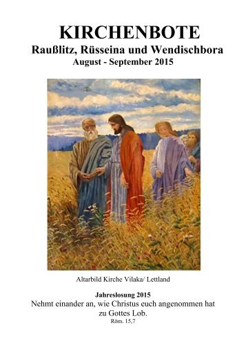 Kirchenbote 2015 Aug-Sep