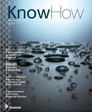 know how magazine - 2011 volume 14, issue 2 - Pentair