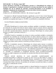 HOTARARE Nr. 551 din 6 iunie 2007 pentru aprobarea ... - uefiscdi