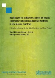 Health services utilization and out-of-pocket expenditure at public ...