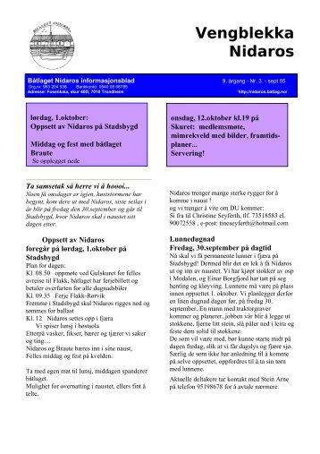 Nr. 3- september 2005 - BÃ¥tlaget Nidaros