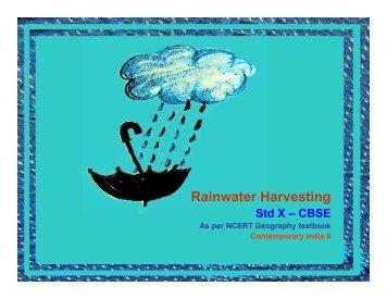 Rain Water Harvesting - Schools Water Portal