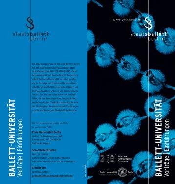 ballett - Freie Universität Berlin
