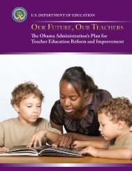 Our Future, Our Teachers - U.S. Department of Education
